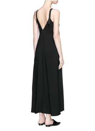 Helmut Lang - V-neck crepe maxi dress