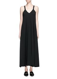 HELMUT LANGV-neck crepe maxi dress