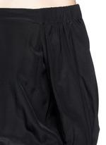'Faley' silk off-shoulder jumpsuit