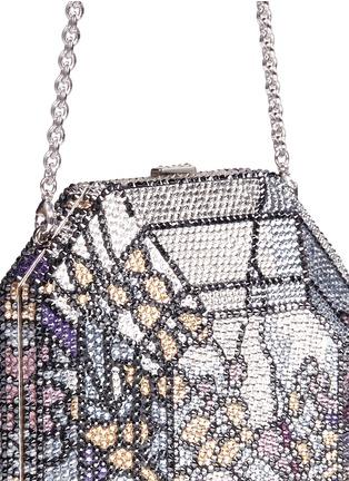 Judith Leiber-'Octagon' floral crystal pavé minaudière