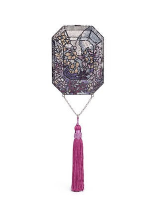 Main View - Click To Enlarge - Judith Leiber - 'Octagon' floral crystal pavé minaudière
