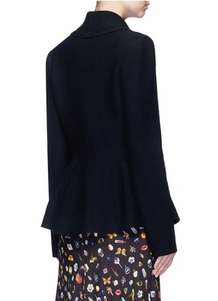 Back View - Click To Enlarge - Alexander McQueen - Wool-cashmere blend knit peplum jacket