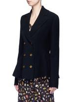 Wool-cashmere blend knit peplum jacket