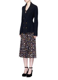 Alexander McQueenWool-cashmere blend knit peplum jacket