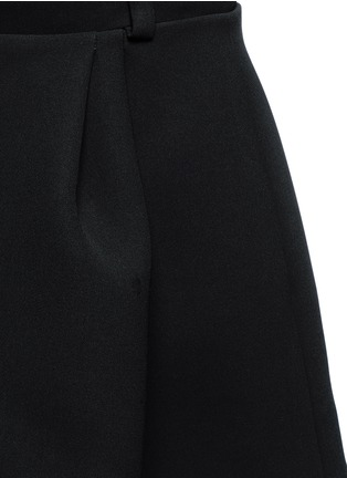 Detail View - Click To Enlarge - Balenciaga - Inverted pleat bonded crepe mini skirt