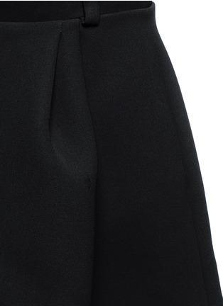 Balenciaga-Inverted pleat bonded crepe mini skirt