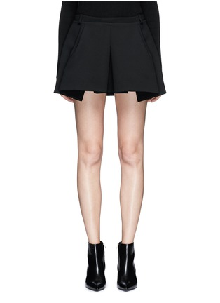 Main View - Click To Enlarge - Balenciaga - Inverted pleat bonded crepe mini skirt
