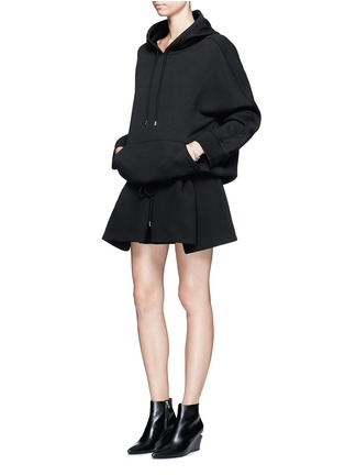 Figure View - Click To Enlarge - Balenciaga - Inverted pleat bonded crepe mini skirt