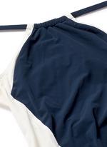 'Nola' open back colourblock halterneck swimsuit