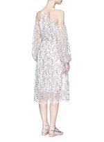 'Eden' floral embroidery silk georgette midi dress
