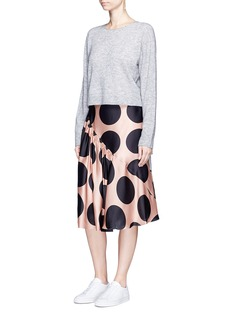 Stella McCartney Polka dot ruched silk satin skirt