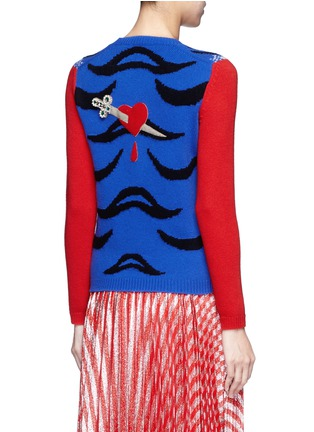 Back View - Click To Enlarge - Gucci - Tiger intarsia wool sweater