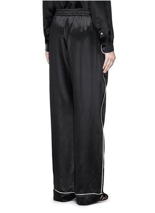 Back View - Click To Enlarge - Dolce & Gabbana - Contrast piping silk satin pyjama pants