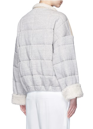 Back View - Click To Enlarge - Chloé - Jersey sleeve shearling jacket