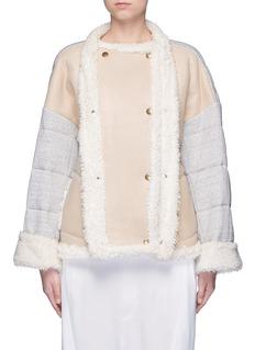 CHLOÉJersey sleeve shearling jacket