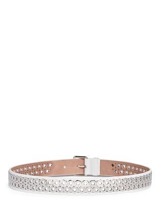 Azzedine Alaïa-Inset eyelet leather belt
