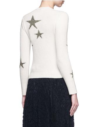 Valentino-Metallic star intarsia cashmere sweater