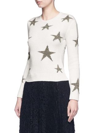 正面 -点击放大 - VALENTINO - 五角星嵌花羊绒针织衫