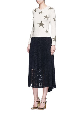 Figure View - Click To Enlarge - Valentino - Metallic star intarsia cashmere sweater