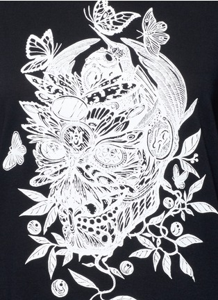 Detail View - Click To Enlarge - Alexander McQueen - Floral skull print T-shirt