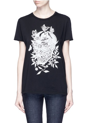 Main View - Click To Enlarge - Alexander McQueen - Floral skull print T-shirt