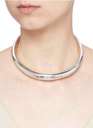 Figure View - Click To Enlarge - Sophie Buhai - 'Dream' tubular sterling silver collar necklace