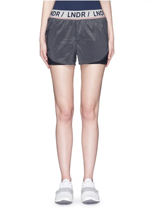 Main View - Click To Enlarge - LNDR - 'Luna' double layer running shorts