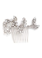 'I Do' Swarovski crystal glass pearl hair comb