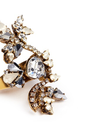 Detail View - Click To Enlarge - Erickson Beamon - 'Swan Lake' Swarovski crystal statement ring