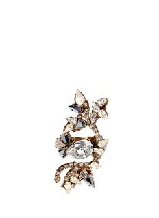 ERICKSON BEAMON'Swan Lake' Swarovski crystal statement ring