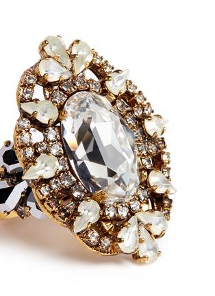 Detail View - Click To Enlarge - Erickson Beamon - 'Swan Lake' Swarovski crystal cocktail ring