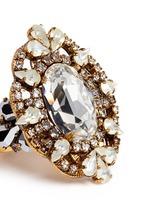 'Swan Lake' Swarovski crystal cocktail ring