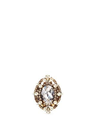 Main View - Click To Enlarge - Erickson Beamon - 'Swan Lake' Swarovski crystal cocktail ring