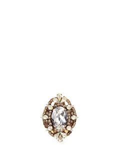 Erickson Beamon'Swan Lake' Swarovski crystal cocktail ring