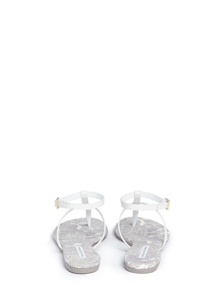 Back View - Click To Enlarge - DIANE VON FURSTENBERG - 'Perugia' leather T-strap sandals