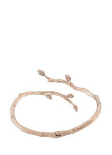 Anyallerie Diamond 18k gold leaf cuff