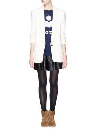 Isabel Marant Toile Logo Linen Long Sleeve T Shirt