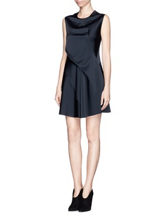 3.1 PHILLIP LIM Asymmetric sleeveless satin flare dress