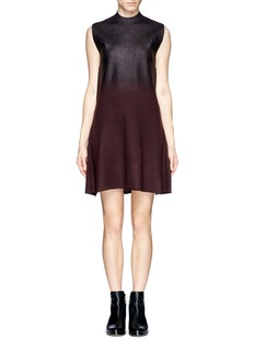 3.1 PHILLIP LIM Foil gradient felted wool knit dress