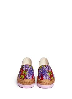 Dolce & GabbanaWisteria print brocade flatform espadrilles