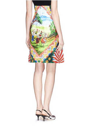 Back View - Click To Enlarge - Dolce & Gabbana - Spanish dancer brocade pencil skirt