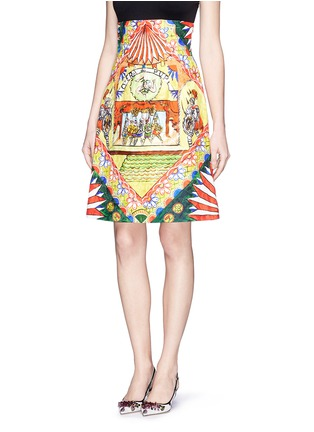 Front View - Click To Enlarge - Dolce & Gabbana - Spanish dancer brocade pencil skirt