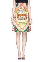 Spanish dancer brocade pencil skirt