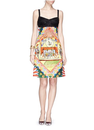 Figure View - Click To Enlarge - Dolce & Gabbana - Spanish dancer brocade pencil skirt