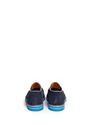 背面 - 点击放大 - ARMANI COLLEZIONI - 真皮拼色系带鞋