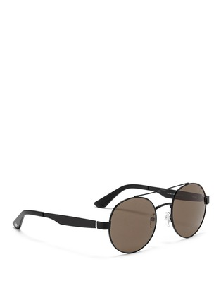 Figure View - Click To Enlarge - OXYDO - Matte metal round frame sunglasses