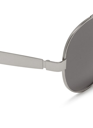 Detail View - Click To Enlarge - OXYDO - Matte metal round frame sunglasses
