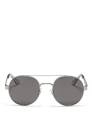 Main View - Click To Enlarge - OXYDO - Matte metal round frame sunglasses