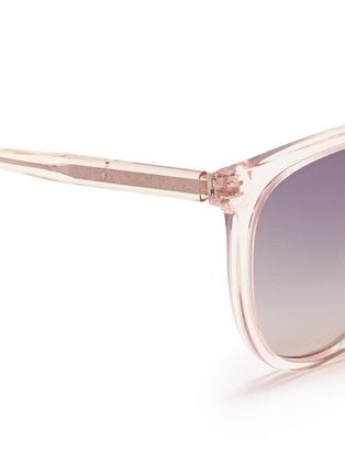 细节 - 点击放大 - OXYDO - Translucent cat eye acetate sunglasses