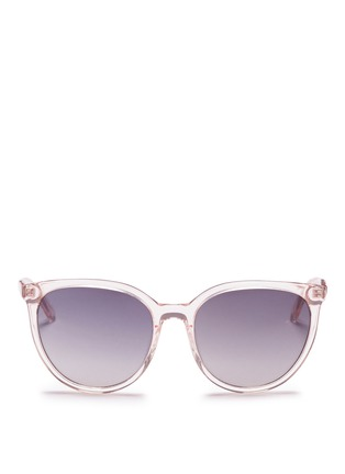 首图 - 点击放大 - OXYDO - Translucent cat eye acetate sunglasses